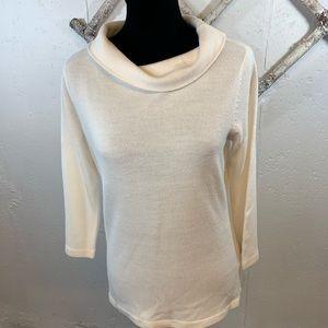 Sag Harbor white cowl neck sweater